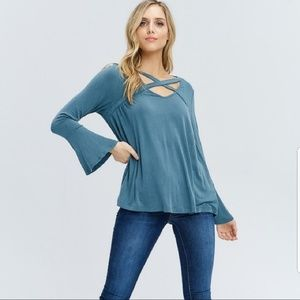 Tops - New!!  Stylish Detailed front top